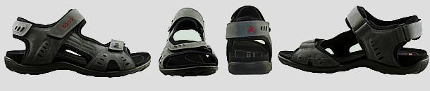 Vue ecco sandale men semelle fine 1
