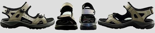 Vue ecco sandale lady semelle epaisse 1